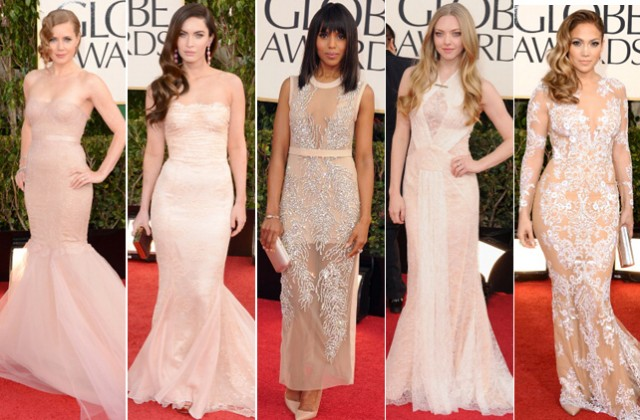 Amy Adams in Marchesa, Megan Fox in Dolce & Gabbana, Kerry Washington in Miu Miu, Amanda Seyfried in Givenchy, Jennifer Lopez in Zuhair Murad