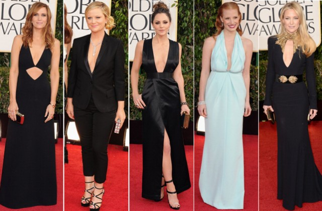 Kristin Wiig in Michael Kors, Amy Poehler in Stella McCartney, Katherine McPhee in Theyskens Theory, Jessica Chastain in Calvin Klein Collection, Kate Hudson in Alexander McQueen