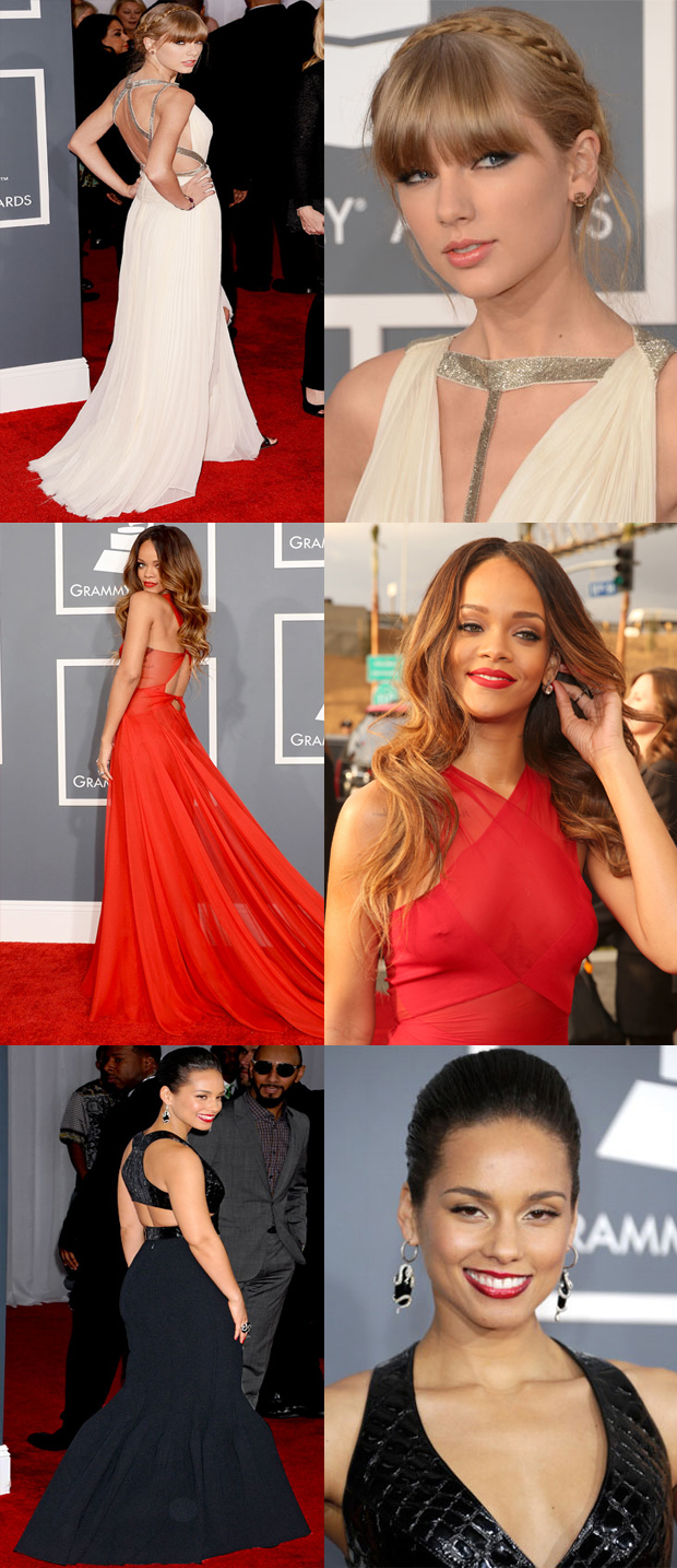 grammy-2013-tendencia-costas-Taylor-Swift-Rihanna-Alicia-Keys