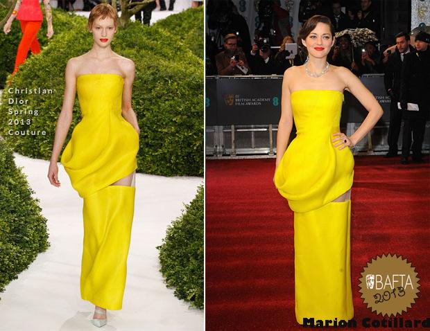 Marion-Cotillard-In-Christian-Dior-Couture-2013-BAFTA-Awards