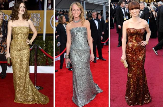 Vestido Todo Bordado Com Lantejoulas: Você está tomando a atenção do Oscar. Muito rude.