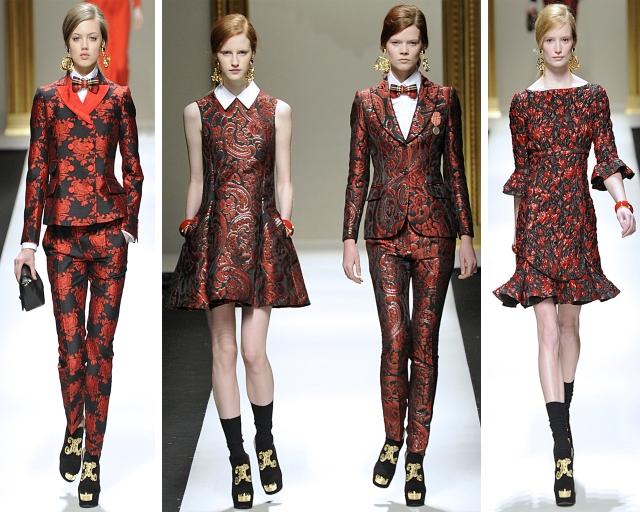 milan-fashion-week-2013-outono-inverno-moschino-brocados