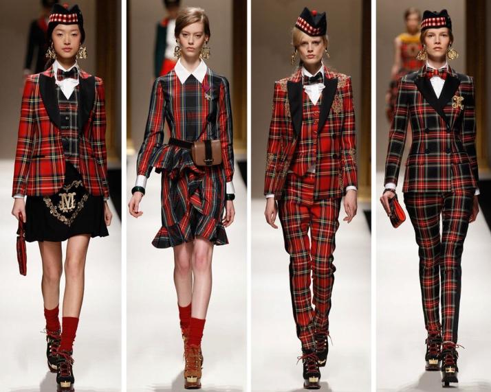 milan-fashion-week-2013-outono-inverno-moschino-tartan