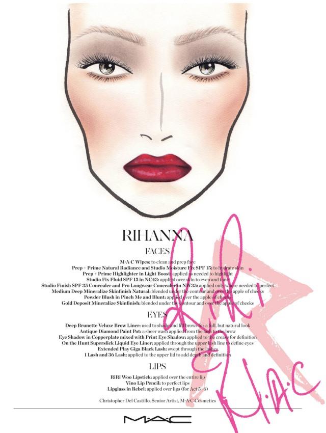 rihanna-diamonds-world-tour-maquiagem-mac-facechart