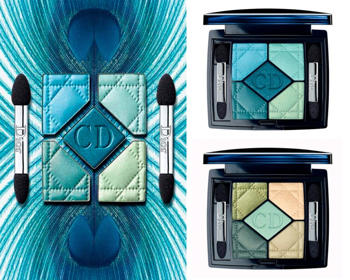 Dior 5 Color Eyeshadow Palette: 434 Peacock e 374 Blue Lagoon (US$59,00)