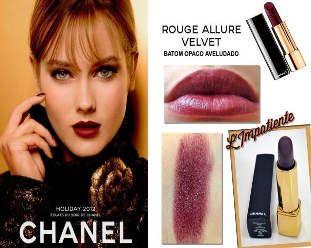 resenha-batom-Rouge-Allure-Velvet-307-L'Impatiente-Chanel-swatch