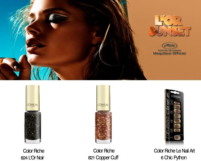 coleção-maquiagem-LOr-Sunset-LOréal-Festival-Cannes-2013-unhas