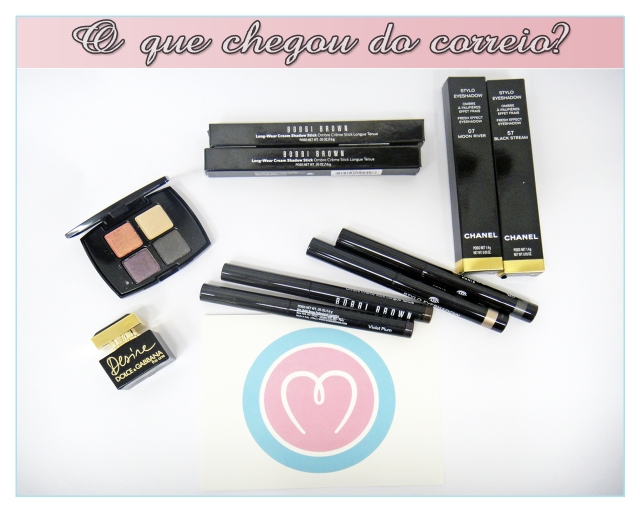 compras-make-em-primeira-mao-Chanel-Stylo-Eyeshadow-Black-Stream-Moon-River-Bobbi-Brown-Long-Wear-Cream-Shadow-Stick-Bark-Violet-Plum