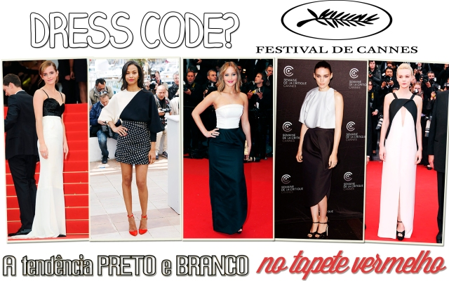 dress-code-festival-cannes-2013-tendencia-preto-branco-Emma-Watson-Chanel-Jennifer-Lawrence-Rooney-Mara-Dior-Zoe-Saldana-Emanuel-Ungaro-Carey Mulligan-Vionnet