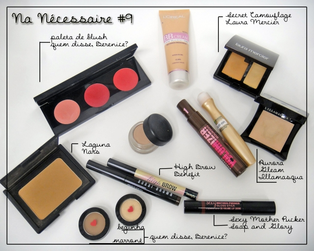 necessaire-bobbi-brown-long-wear-cream-shadow-stick-bark-nars-laguna-benefit-high-brow-illamasqua-gleam-aurora-loreal-bbcream-paleta-blush-quem-disse-berenice-sombra-beginha-marrone-soap-and-glory-sexy-mother-pucker