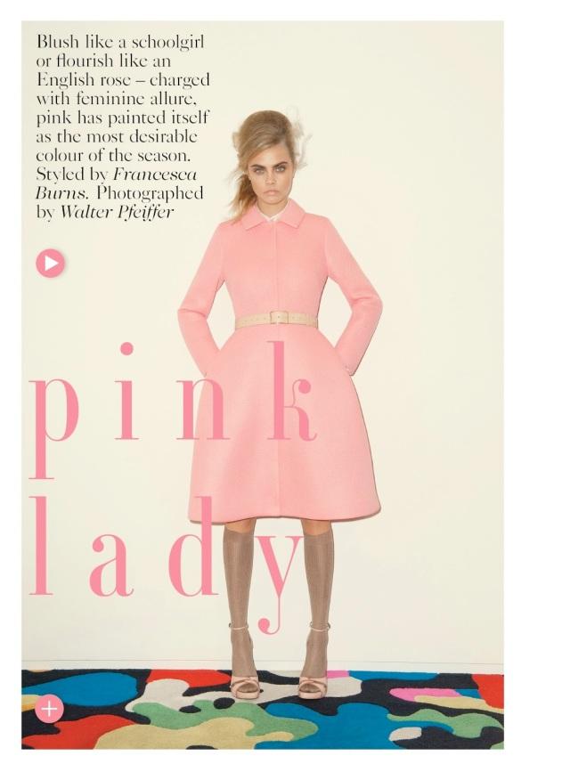 cara delevingne-editorial-pink-lady-vogue-uk-setembro-2013-capa