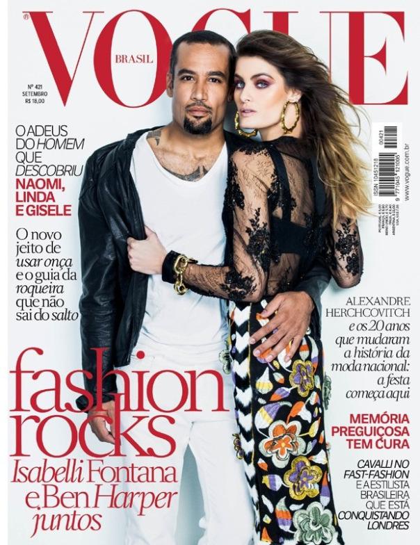 vogue-brasil-isabelli_fontana-ben_harper-jacques_dequeker-setembro-2013-capa