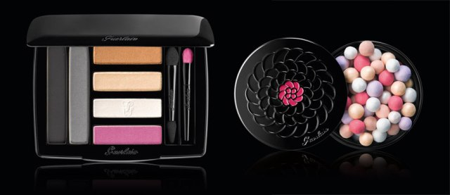 Guerlain-Crazy-Paris-Makeup-Collection-for-Holiday-2013-le-petite-robe-noir CRAZY PARIS EYE PALETTE –NEON LOOK £54 / €74 MÉTÉORITES CRAZY PEARLS ILLUMINATING POWDER – PURE RADIANCE  £37 / €49