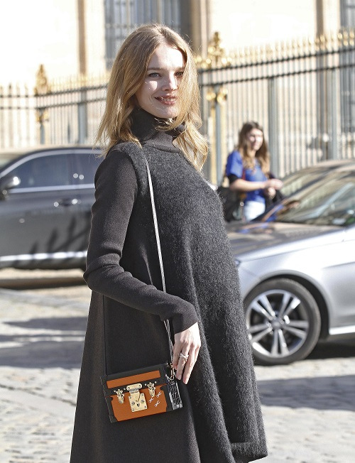 Celebrity sighting at Paris Fashion Week - Womenswear Fall/Winter 2014-2015 Louis Vuitton