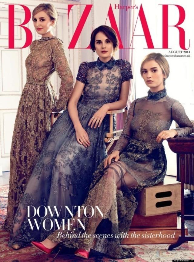downton-abbey-sisterhood-harpers-bazaar-uk-agosto-2014-capa
