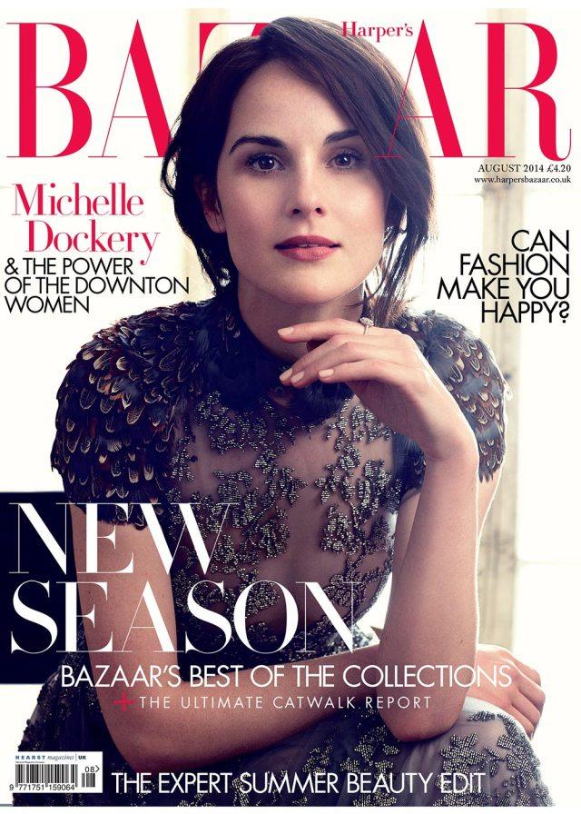 michelle-dockery-harpers-bazaar-uk-agosto-2014-capa